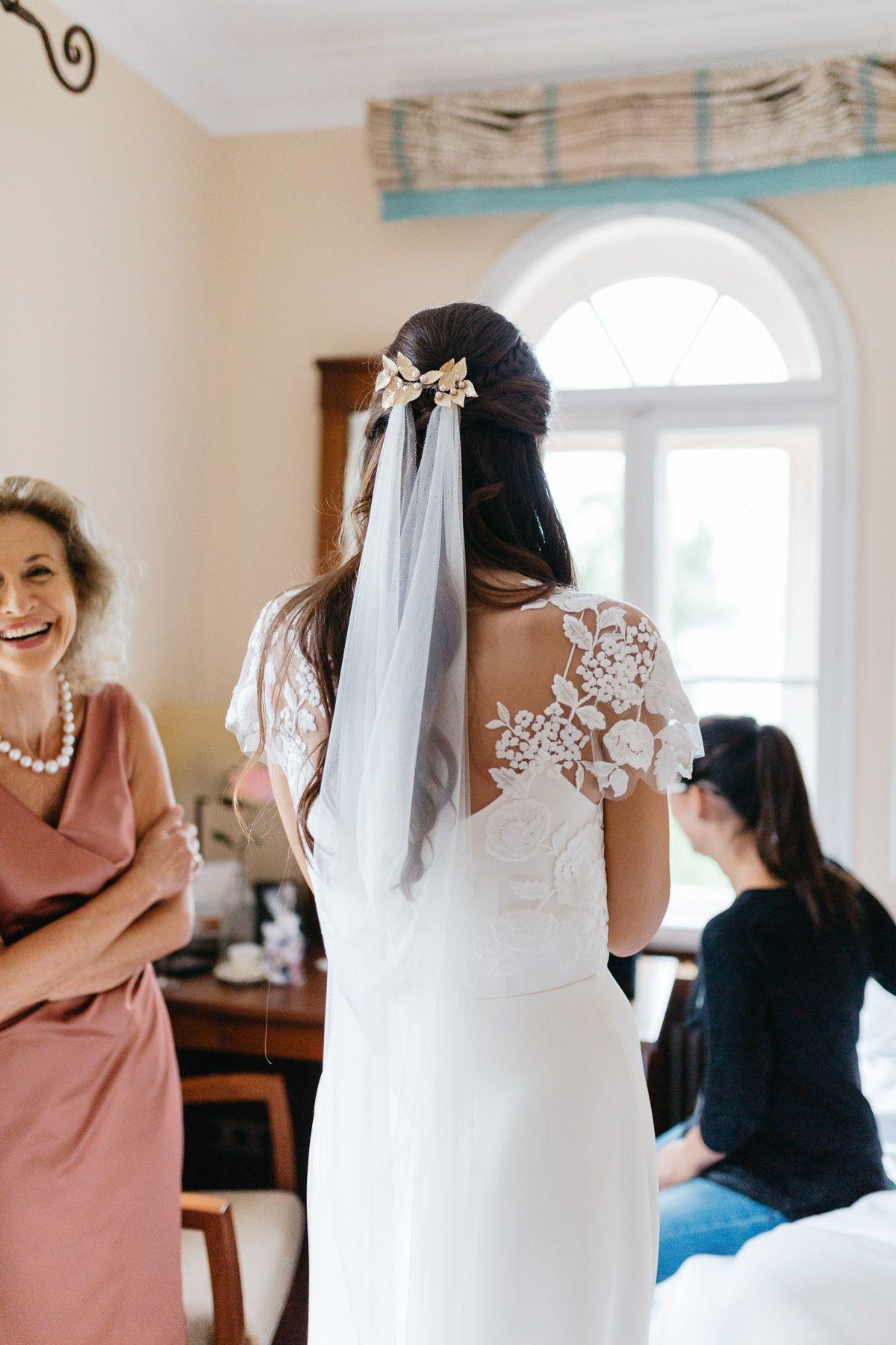 Offene haare diadem braut Braut haarschmuck