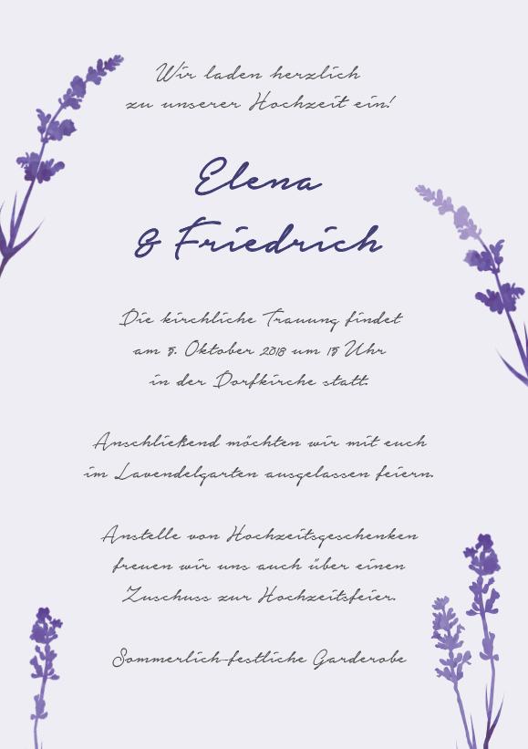 Hochzeit einladung texte