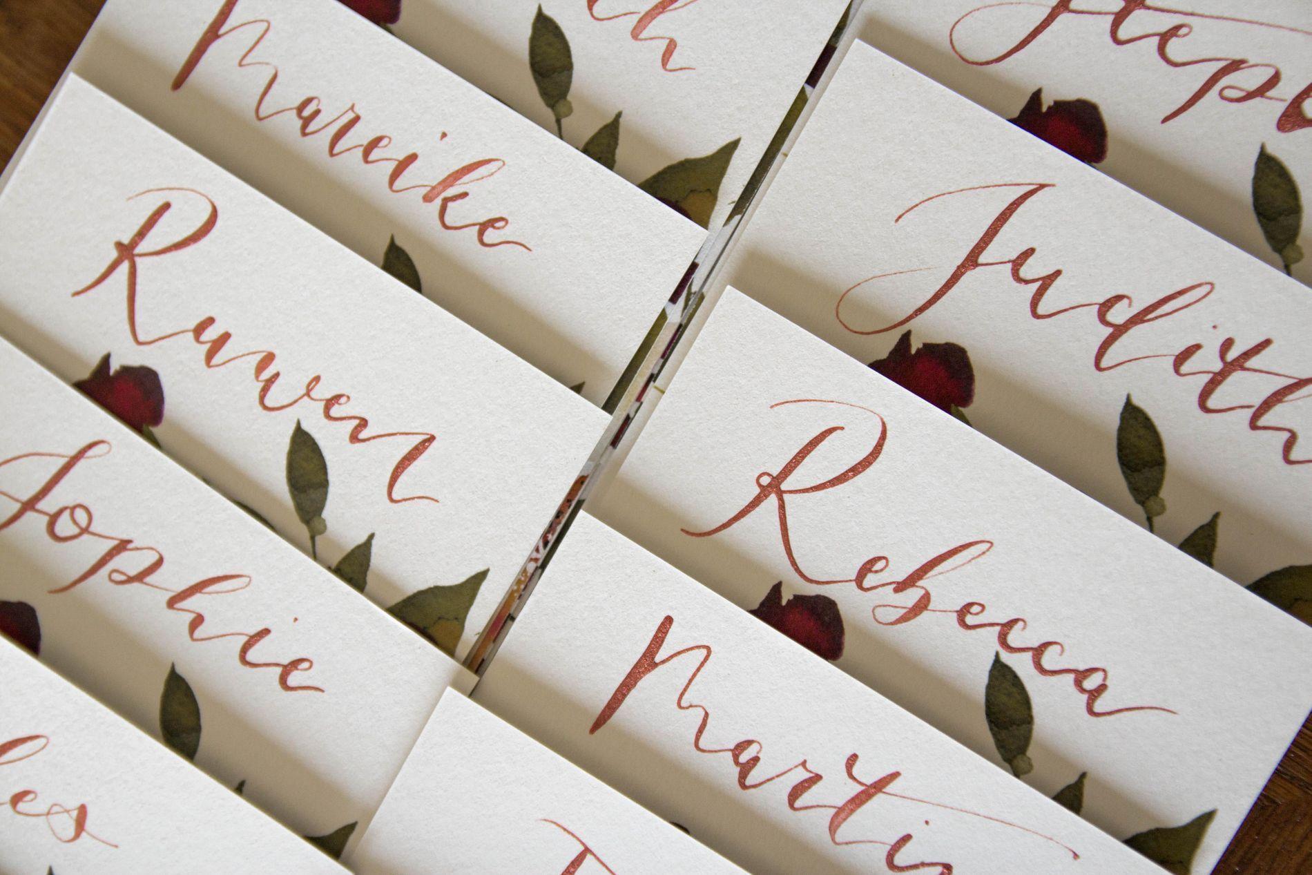 Tischkarten Hochzeit - Ideen & Basteltipps I WeddyPlace